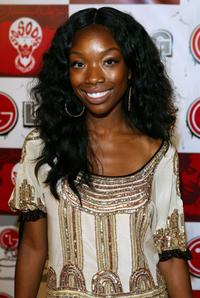 Brandy at the LG and Jermaine Dupri's Fusic Party for BET.
