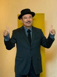 Ruben Blades at the press conference in Mexico City.