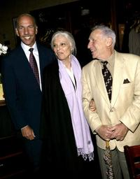 Mel Brooks, Anne Bancroft and Robert Sillerman at the West Bank Cafe for the opening night party for