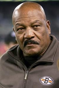 Jim Brown at the sidelines as the Baltimore Ravens defeated the Cleveland Browns 27-13.