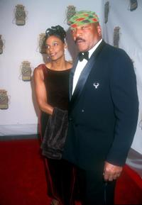Jim Brown and his wife at the Sports Illustrated's 20th Century Sports Awards.