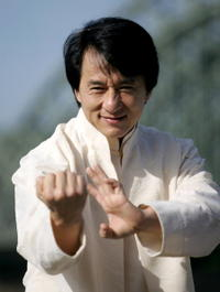 Jackie Chan promotes