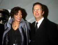Curtis Mayfield and Eric Clapton at the memorial service for Curtis Mayfield.