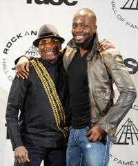 Jimmy Cliff and Wyclef Jean at the 25th Annual Rock And Roll Hall of Fame Induction Ceremony.