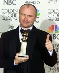 Phil Collins at the 57th Golden Globes in Beverly Hills.