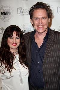 Vikki Lizzi and Jeff Conaway at the 14th annual student filmmaker pre-Oscar luncheon.