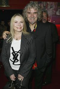 Billy Connolly and his wife Pamela Stevenson at the premiere of
