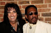 Alice Cooper and Ike Turner at the party of Mojo Honours List Awards Ceremony.