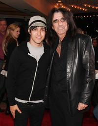 Pete Wentz and Alice Cooper at the 1st Annual U.S. NME Awards.