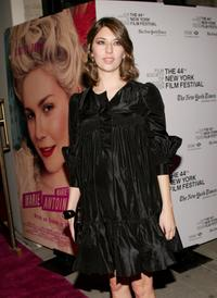 Sofia Coppola at the New York Film Festival screening after party for