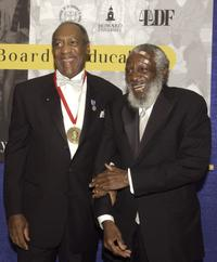 Bill Cosby and Comedian Dick Gregory at the Brown v. Board of Education 50th Anniversary Gala.