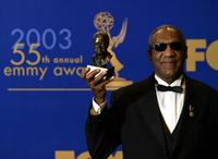 Bill Cosby with his Bob Hope Humanitarian award at the 55th Annual Primetime Emmy Awards.