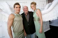 Nick James, Phil Brock and Lindy Gamble at the Mercedes-Benz Fashion Week.