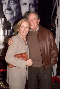 Richard Crenna and Holland Taylor at the premiere of