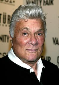Tony Curtis at the party after Crime Scene Investigation becoming TV'snumber 1. Show.