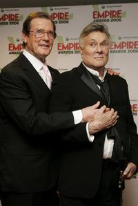 Tony Curtis and Roger Moore at the Sony Ericsson Empire Film Awards.