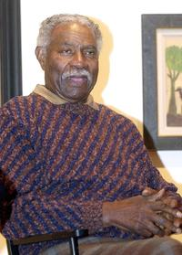 Ossie Davis at a discussion of the role of African-Americans in film at the Studio Museum.