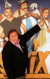 Gerard Depardieu at the Athens premiere of