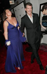 Pierce Brosnan and wife Keely Shaye Smith at the New York premiere of