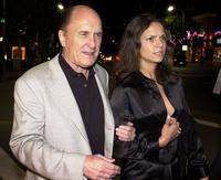 Robert Duvall and his Argentinian girlfriend Luciana Pedrazaat the Los Angeles premiere of