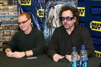 Danny Elfman and Tim Burton at a signing of