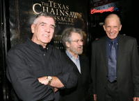 R. Lee Ermey, producer Tobe Hooper and Terrence Evans at the premiere of