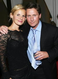 Sonja Magdevski and Emilio Estevez at the after party of the screening of