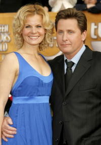 Sonja Magdevski and Emilio Estevez at the 13th Annual Screen Actors Guild Awards.