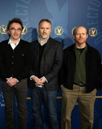 Director Danny Boyle, David Fincher and director Ron Howard at the DGA (Director's Guild of America) Awards Meet The Nominees.
