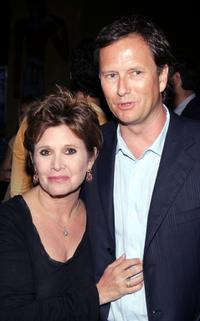 Carrie Fisher and Michael Burns at the Premiere of