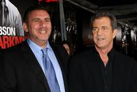 Producer Graham King and Mel Gibson at the California premiere of
