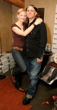 Melinda Page Hamilton and Bobcat Goldthwait at the Gibson Guitar Lounge.