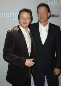James McAvoy and Tom Hanks at the Los Angeles premiere of