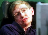 Stephen Hawking at the press conference at Tata Institute of Fundamental Research.
