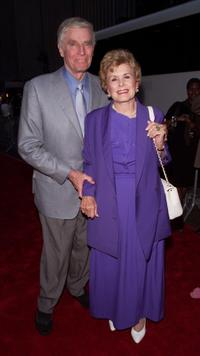 Charlton Hestonand and his wife Lydia Heston at the premiere of
