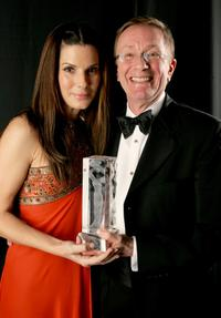 Sandra Bullock and Gary Jones at the 9th annual Costume Designers Guild Awards - backstage.