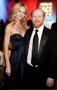 Ron Howard and Jenna Elfman at the 56th Annual ACE Eddie Awards cocktail reception held at the Beverly Hilton Hotel.