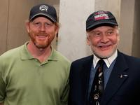 Ron Howard and Buzz Aldrin at the special screening of THINKFilm's