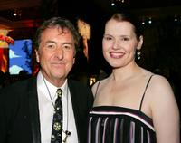 Eric Idle and Geena Davis at the after party of the premiere of