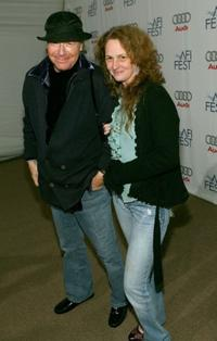 Henry Jaglom and Melissa Leo at the world premiere of