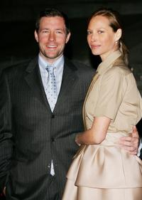 Edward Burns and wife Christy Turlington at the Vanity Fair Tribeca Film Festival Party in New York City.