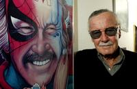 Stan Lee poses at his office.