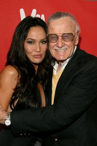 Stan Lee and Tia Carrere at the Spike TV's 2007 Video Game Awards.
