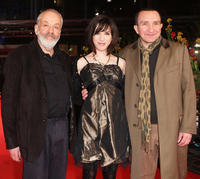Mike Leigh, Sally Hawkins and Eddie Marsan at the premiere of