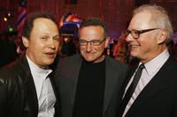 Barry Levinson, Billy Crystal and Robin Williams at the Hollywood Roosevelt Hotel for the afterparty at the premiere of Universals