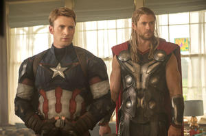Captain America and Thor in Avengers Age of Ultron
