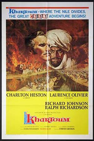 """Poster art for """"Khartoum."""""""