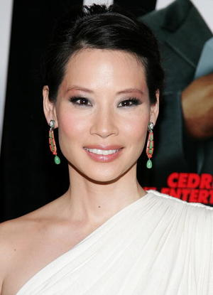 """Code Name: The Cleaner"" star Lucy Liu at the New York premiere."