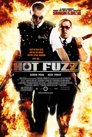 "Poster art for ""Hot Fuzz."""