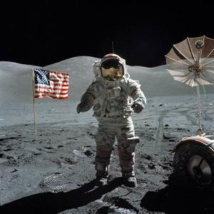 "Gene Cernan in ""In the Shadow of the Moon."""